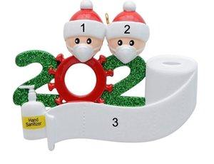 2020 Quarantine Natal ornamento de suspensão Birthday Party Decoration presente Família de produtos personalizada de 5 ornamento Pandemic