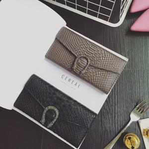 여성 악어 패턴 PU 가죽 지갑 카드 홀더 가방에 대한 뱀 스타일 여성 지갑 긴 여성 지갑 지갑 패션 핸드 클러치 백