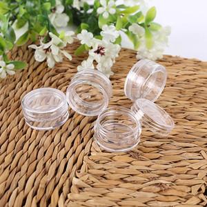 5G 5ML Yüksek Kaliteli Pudra Makyaj, Cream, Losyon, Dudak / Parlak, Kozmetik Numuneleri için Temizle Kapaklı Açık Konteyner Kavanoz Pot boşaltın