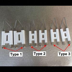 Doppel-Pole Zündelektrode, Brennen Maschine Heizöl Gas-Ofen, Funkenzünder, Otto Nadel, Keramik Zündnadel mb9v #