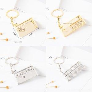 anahtarlık kolye yAMhv Abacus Abacus Wangzi Chenglong yaratıcı Yaratıcı dişli halkası kolye anahtar 8 hediye alaşım 6 Hediye halka dişli