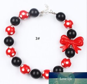 Children Jewellery Bubblegum Necklace for Toddlers Girls European American Handmade Bead Necklace Holloween Christmas Gift 3 Designs Mix