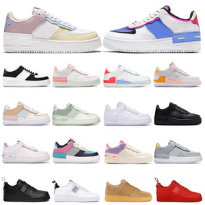air force 1 Femmes Patch Bred blanc orange Atomic sarcelle d'hiver parra puerto rico éléphant Baskets de sport de plein air taille 36-45