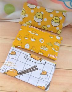 Ivyye 1 adet Tembel Gudetama Anime Kozmetik Çanta Tuval Fermuar Okul Kalem Kutusu Depolama Kalem Çanta Kılıfı Kırtasiye Yeni