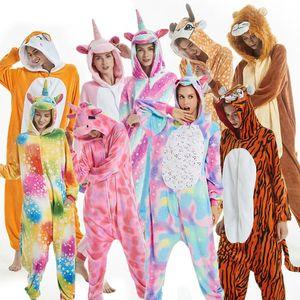 PXJYHCL adultos Kid mujeres ropa de dormir de la franela Kigurumi unicornio lindo de la puntada de dibujos animados de animales de Cosplay pijamas Set con capucha para niños
