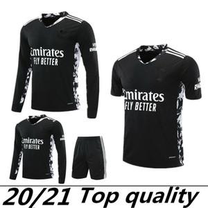 Siyah Futbol jersey 2020 Arsen PEPE NICOLAS CEBALLOS 1 # LENO 26 # MARTINEZ 33 # MACEY TIERNEY GK Futbol forması kaleci 20 21 Gunners