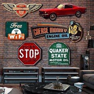 Irregular shade Vintage Tin metal Sign plaque Bar pub home House Cafe Restaurant Wall Decor Retro Metal Art sticker Poster T200827