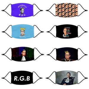 Adult child Ruth Bader Ginsburg Justices of the United States mask dustproof printed washable polyester Adjustable ear straps mask wholesale