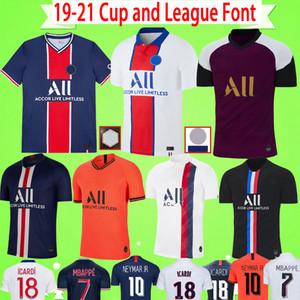 PSG JERSEY Cup and League Font 19 20 21 maillots de foot MBAPPE футбольная футболка ICARDI 2019 2020 2021 paris футбольная рубашка CAVANI Camiseta de futbol мужчины дети