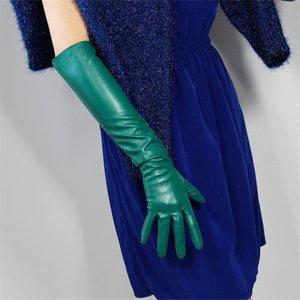 Sexy PU Langer Handschuh für Frauen Exotische Appeal Handschuhe Qualitäts-Kunstleder-Handschuhe Clubwear Catsuit Cosplay Kostüme Fäustlinge