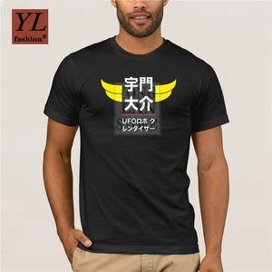 Marca di modo Flevans New Spring O collo manica corta T shirt Mazinga Z Stampa Mens T Shirt Uomo Marca