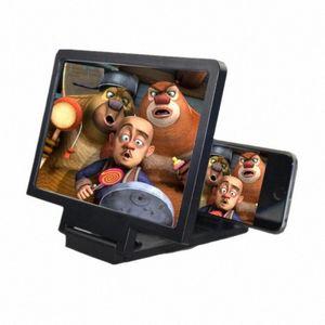 Loupe écran 3D Mieux regarder les vidéos Film 3x Zoom écran agrandi Vidéo rayonnement Eye Bureau Loupe EEGS #