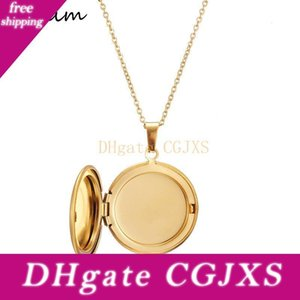 Dama joyas de plata colgante de acero collar medallón colgante para las mujeres del círculo de la moneda inoxidable en el interior del encanto del oro de fotos Open puede