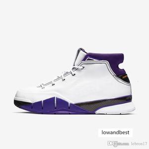 Pas cher hommes ZK1 Bryants chaussures de basket-ball protro KB1 Blanc Violet Noir 81 Points Red Team couleurs gris ZK tennis de 1s