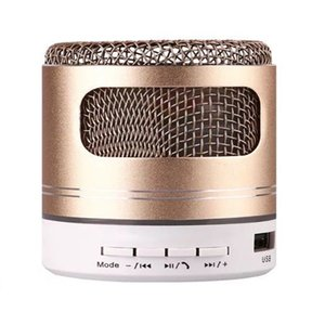 LED mini speaker 2020 new metal bluetooth speakers TF card FM portable case mini wireless speakers AI speakers