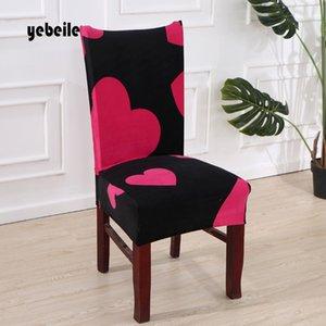 Yebeile 1piece Thick Plüsch Hussen Polyester Solid Color Essen Hussen Stretch Flanell-Sitzabdeckung für Bankett Hochzeit