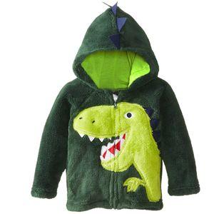 Baby Coats Clothes Boys Girls Dinosaur Hoodie Fleece Cartoon Dog Kids Sweaters Jackets Children's Clothing Designer