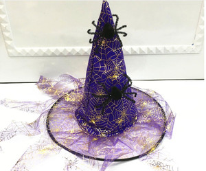 2020 NEW arrival Halloween hat children's adult masquerade ball dress up gilded five pointed star Magic Wizard Hat Witch Hat