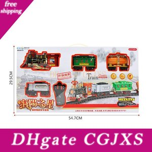 Christmas Train Modell Fernbedienung Beförderung Auto-elektrischer Dampf Rauch Rc Train Set Modell-Spielzeug-Geschenk Eletric Zug Tren Navidad