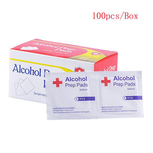 Mini Alcohol Prep Pads 3*6cm Mini Disinfecting Dipe 100pcs pack Disposable Disinfection Pad Outdoor Travel Home Free DHL UPS
