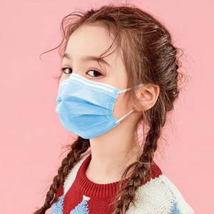 DHL Gemi! Çocuklar Tek Yüz Çocuklar için Maskeler Yüz Koruyucu Anti-Toz Maske toz geçirmez tek kullanımlık 3 Katmanlar Maske