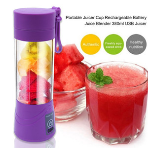 6 Blades Mini Portable Electric Fruit Juicer USB Rechargeable Smoothie Maker Blender Machine Sports Bottle Juicing Cup Blenders Cl200920