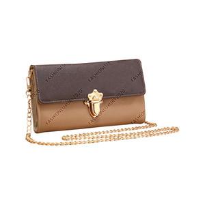 Women's Clutch Bags Hard Shell Design Leather Gold Chain Shoulder Bags Wallet Cross Body Bags Metal Buckle Purse Mini Handbags M44554 22CM
