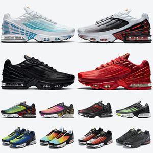 des chaussures nike air max plus 3 airmax tn plus 3 stock x tuned ultra SE femmes chaussures de course pour hommes bleu laser triple noir cramoisi rouge baskets baskets