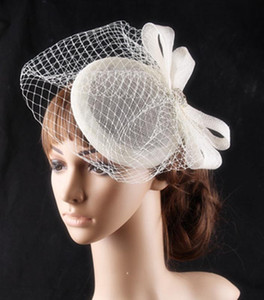 Free Shipping Elegant Wedding Hats For Women Cheap Hair Accessories 2020 Vintage Bridal Hats In Stock Wedding Hat Veils
