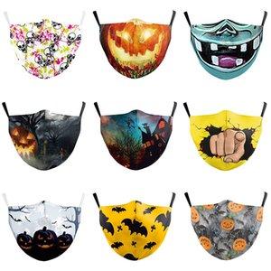 Halloween concepteur mascarade masque facial adulte masque de mode Parti farceur poussière tête de citrouille sport de couverture de la bouche lavable réutilisable de protection