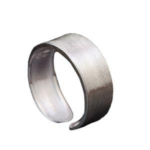 S925 Pure Silver Woman Ring einfache Art und Weise Neues Produkt Adjustable gebürstetes Silber-Ring für die Frau