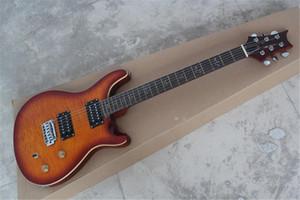 Beste Qualität Big Großhandel handgemachte Birds Inlay Griffbrett Festkörper Charcoal E-Gitarre