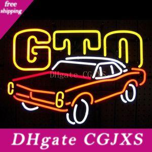 Для Gm American Auto Pontiac GTO неоновых Real Glass Tube Handmade Бар Пивной клуб в The Wall Game Room