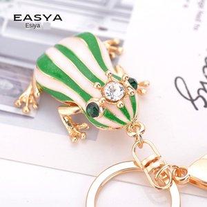 Creative New Frog Pendentif clé chaîne sac strass grenouille couronne de mode en alliage de zinc chaîne Fashion Bag Prince-jyGGs pendentif décoratif