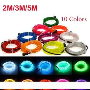 3M 네온 빛 댄스 파티 장식 빛 네온 LED 램프 유연한 EL 와이어 로프 튜브 방수 LED 네온 스트립 서명