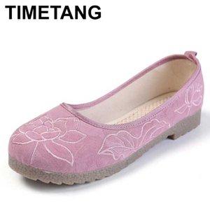 scarpe ricamate TIMETANG 2020 scarpe di stoffa autunno stile nazionale di danza piazza per le donne