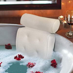 Breathable 3D Mesh Bath Cushion Bath Pillow With Suction Cups Cushion For Head And Neck For Home