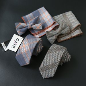 okUEF Moda erkekler rahat Kore tarzı takım elbise elbise kravat kravat cebi üç parçalı küçük kare eşarp yay yüz yüz havlusu Elbise küçük kare towe