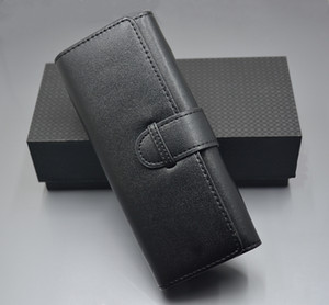 Black Leather For 1 and 2 Pens Style M Pen Pouch Bag For Gift High Quality Case Set Accessories gift pen box manual
