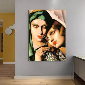 Tamara de Lempicka Canvas Painting Print Living Room Home Decoration Modern Wall Art Oil Painting Posters Pictures Framework