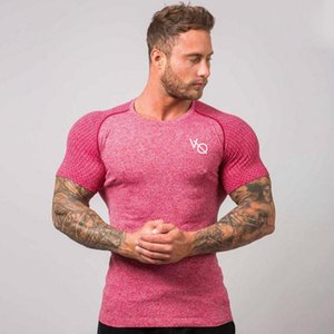 العلامة التجارية الجديدة جاف سريعة T قميص رجالي الرياضة في الهواء الطلق تنفس قصيرة الأكمام تي شيرت ذات جودة عالية للرجال رياضة الجري المحملة القميص