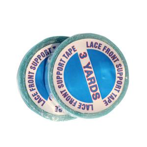 cinta del cordón 3 yardas Peluca Azul de doble cara adhesiva azul pegamento resistente al agua que no marca la extensión del pelo pegamento PU pieza de pelo película adhesiva 0060