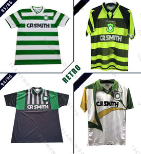 Celtic 1985 1986 2001 2003 de football rétro 94/96 LARSSON NAKAMURA JOHNSON vintage classique celtique de football T-shirts sportifs