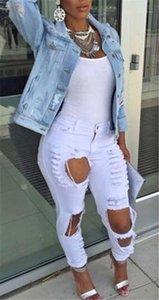 Jeans Giacche Inoltre a maniche lunghe femminile cappotto casuale Primavera Donna Top Outwear Pocket Hole Donne