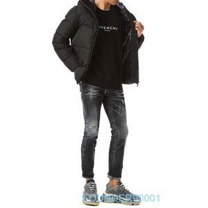nuova moda inverno giù giacca corta in calo del 90% piume d'anatra bianca degli uomini del rivestimento di alta qualità giù formato XS-XL