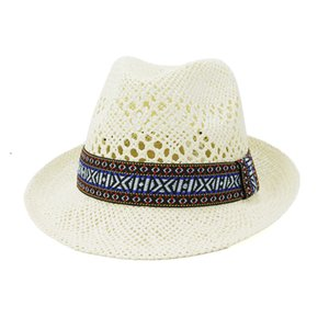 New Arrivals Time-Limited Designers Mens and Womens New Hand-Woven Jazz Hat Spring and Summer Outdoor Travel Sunscreen Sunbonnet Free Ship