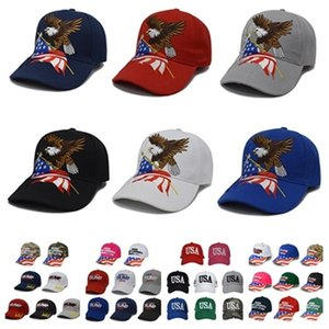 hot Trump Baseball-Mütze Keep America Great Again Caps 2020 Kampagne USA-Flagge-Hut Bestickte Party-Hüte 38style T2C5261-1