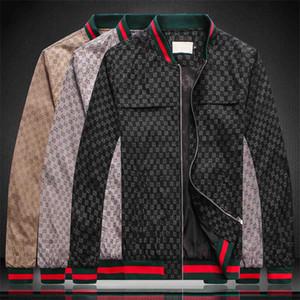 Chaqueta de la cremallera del patrón animal de la letra de la medusa chaqueta del diseñador de la marca de moda de los hombres rompevientos hombres de manga larga de los hombres ocasionales de M-3XL GG