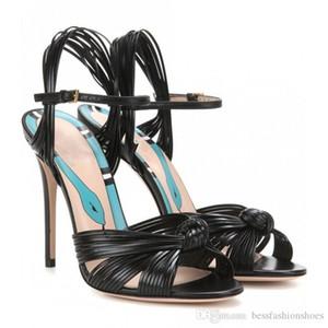 Neu kommen Schuhe Designer Frauen zapatos mujer tacon chaussure femme hohe Sandalen Frauen Partei Sandelholzfrauen Kreuzgurt Sandelholzfersen