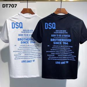 Camiseta del diseñador camisa de la manera DSQ FANTASMA TORTUGA 2020FW nuevo Mens Italia Patrón camisetas verano DSQ camiseta masculina de calidad superior 100% algodón Top 7550